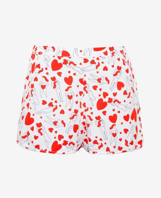 Pyjama shorts Agathe ivory A la folie