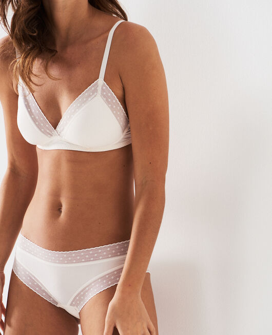 Wireless padde bra Rose white Infiniment