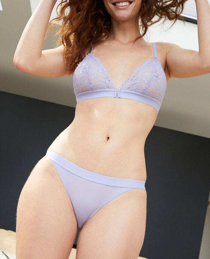 Culotte taille basse Violet fantaisie Nuit