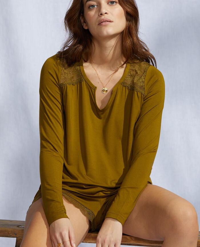 Long-sleeved t-shirt Green bowie Reverie