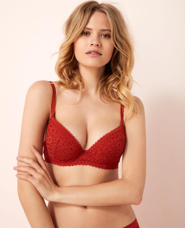 Padded push-up bra Odalisque red Monica