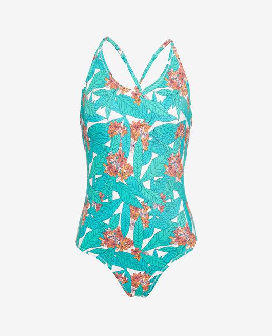 Swimmer padde round neckline Botanic green Princesse tam.tam x uniqlo