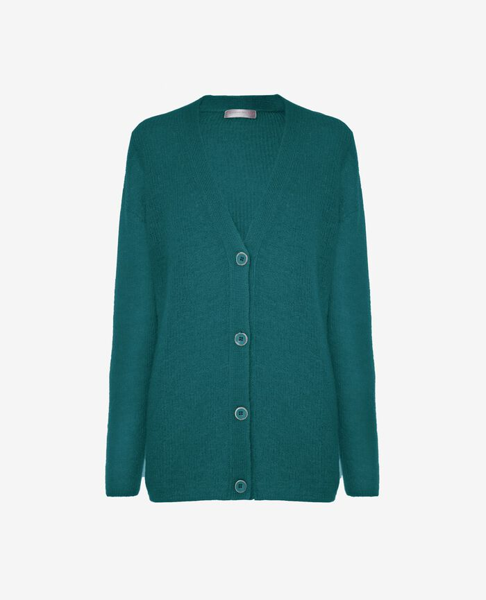 Long-sleeved cardigan Mezcal green Delicate