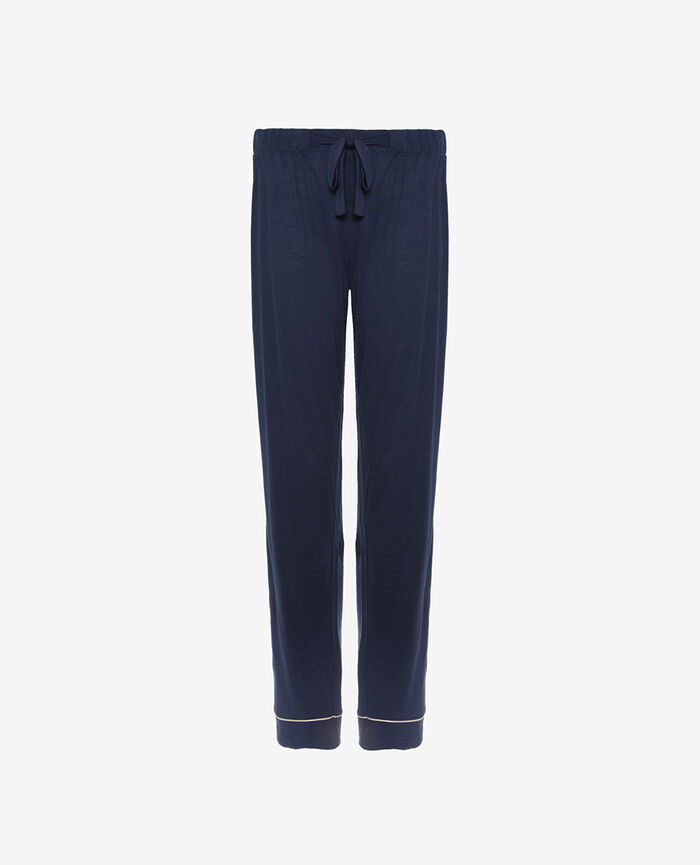 Pantalon de pyjama Bleu marine Latte