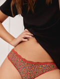 Culotte taille basse Leopard terre brulée Take away