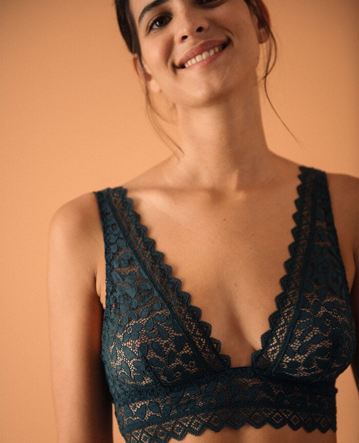 Soft bustier bra Night green Confidence - the take it easy