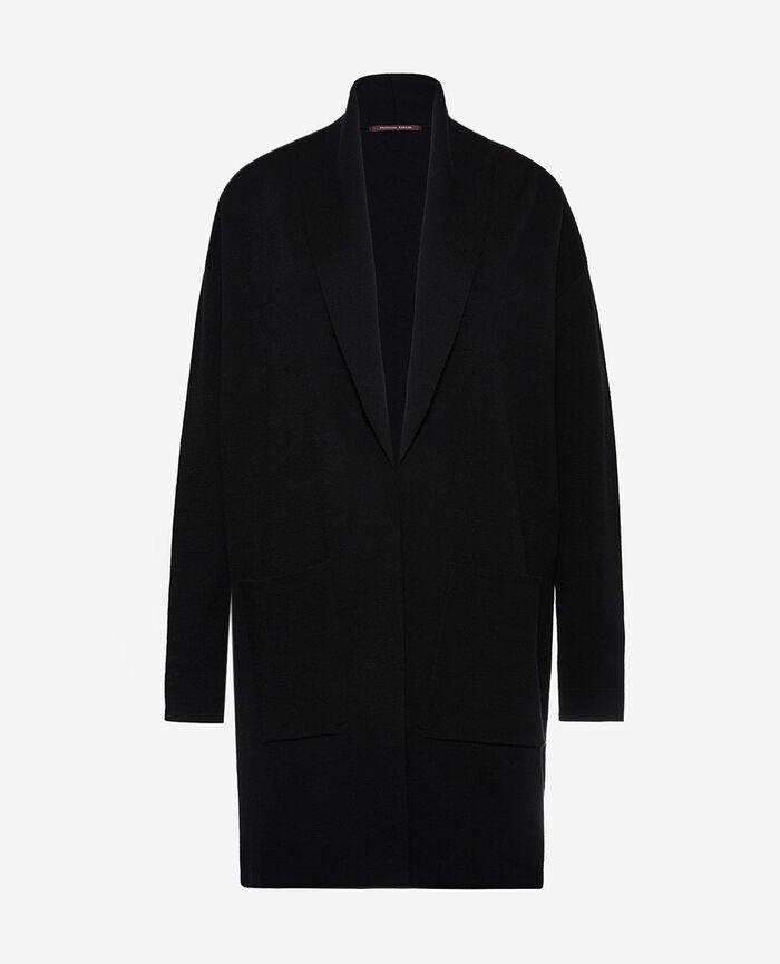 Veste mi-longue Noir Soft