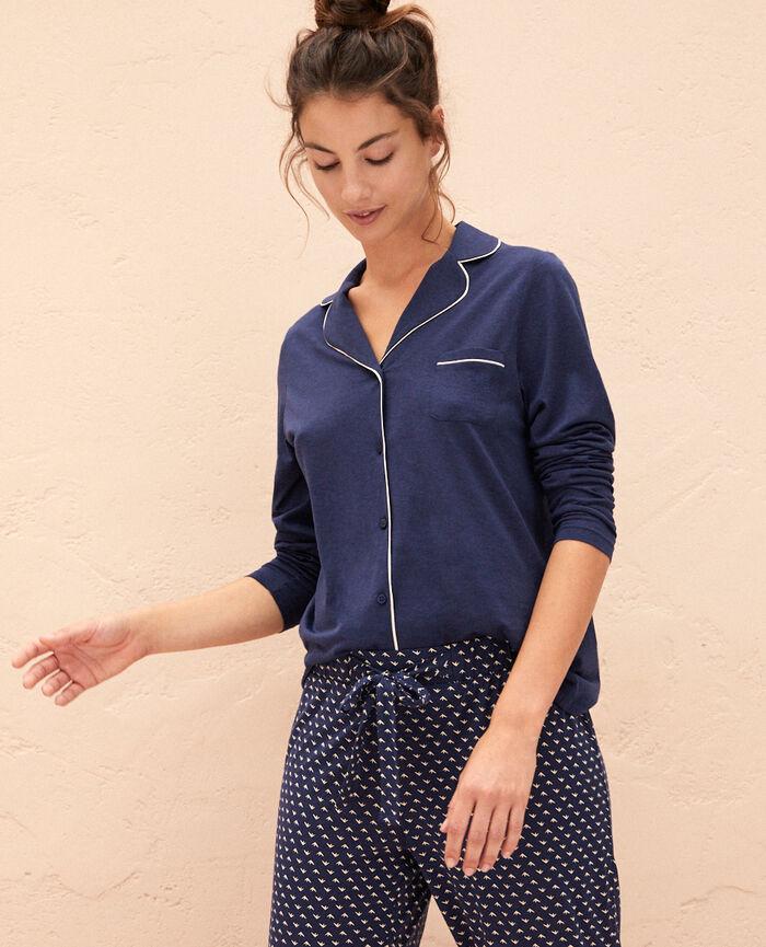 Veste de pyjama Bleu marine Latte