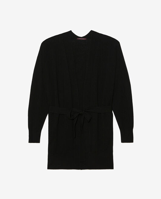 Long-sleeved cardigan Black Cosy