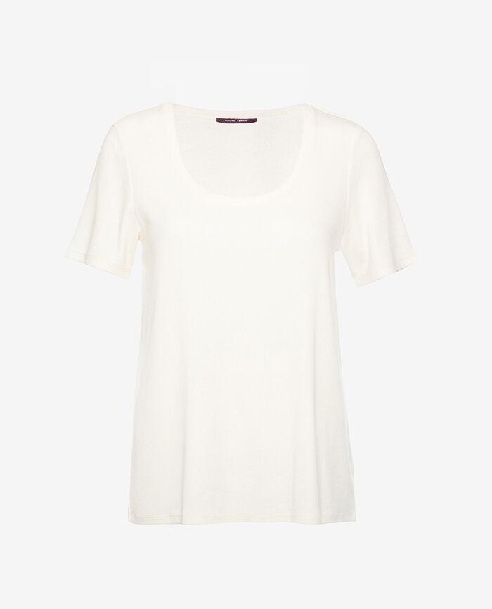 T-shirt manches courtes Blanc rosé Dimanche