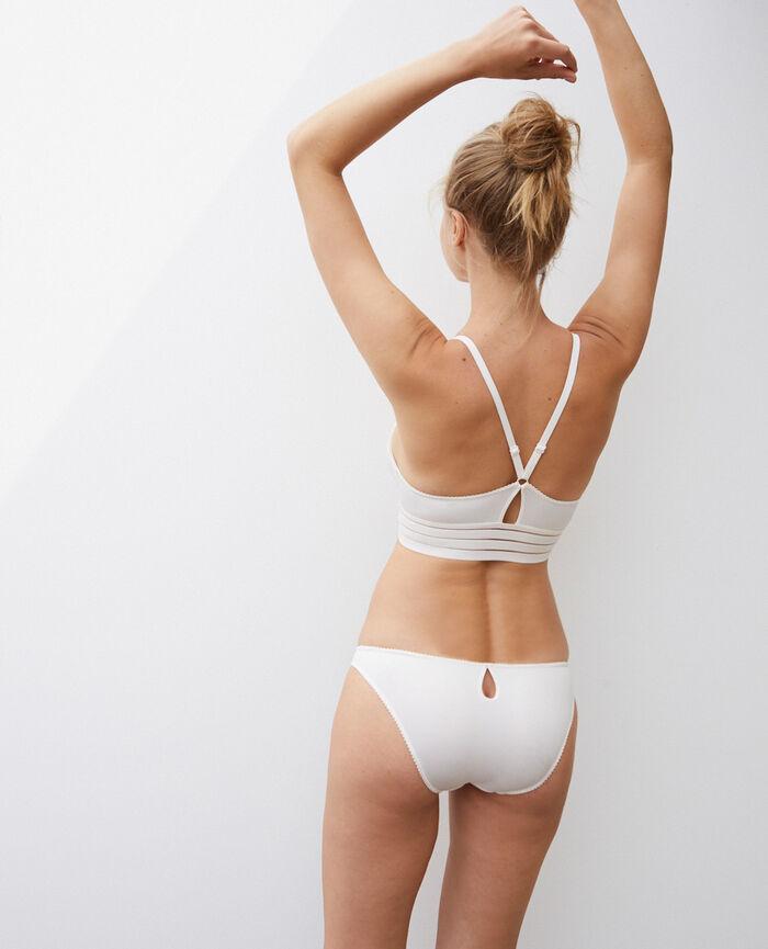 Culotte taille basse Blanc rosé Air lingerie