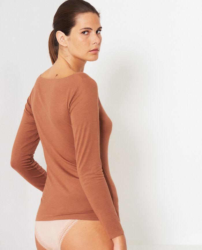 T-shirt manches longues Brun muscade Heattech© innerwear