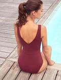 Maillot de bain une pièce de sport Rouge cassis Aqua