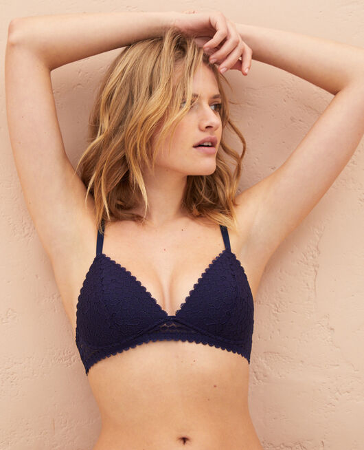 Triangle padde bra Navy Monica