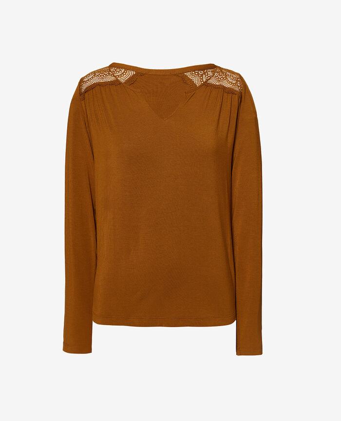 T-shirt manches longues Brun cocktail Reverie