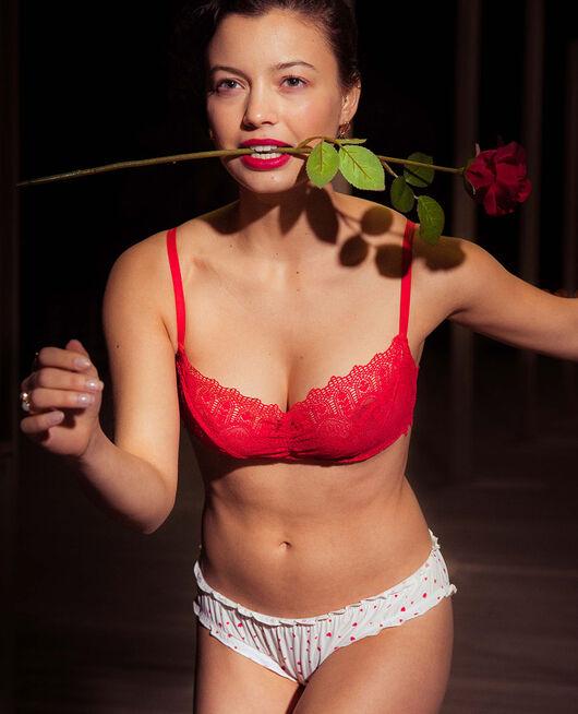 Soutien-gorge balconnet Rouge idole Amour