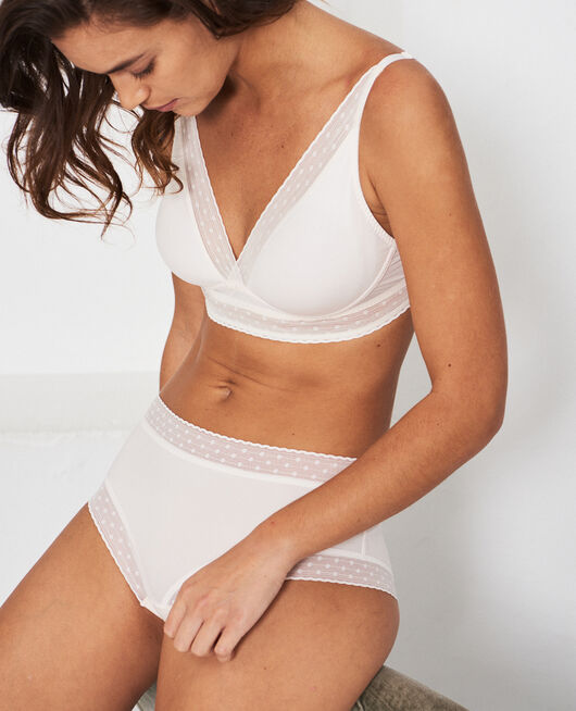Wireless bra Rose white Infiniment
