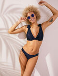 Underwired triangle bikini top Midnight blue Reve