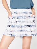 Boxer shorts Cream white Marble