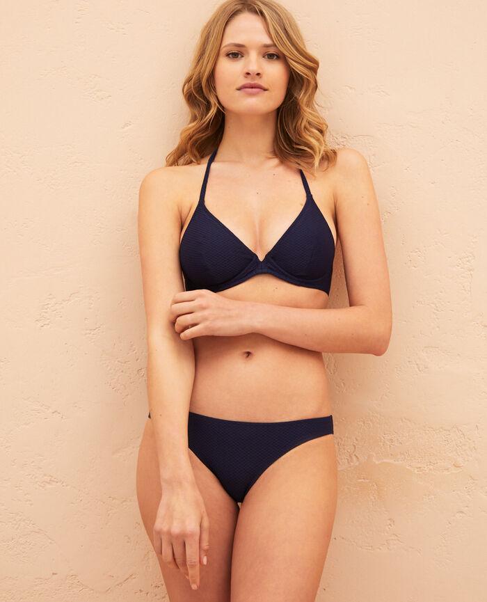 Underwired triangle bikini top Navy Farah