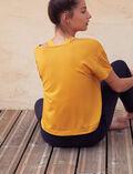 T-shirt de sport manches courtes Jaune d'or Yoga
