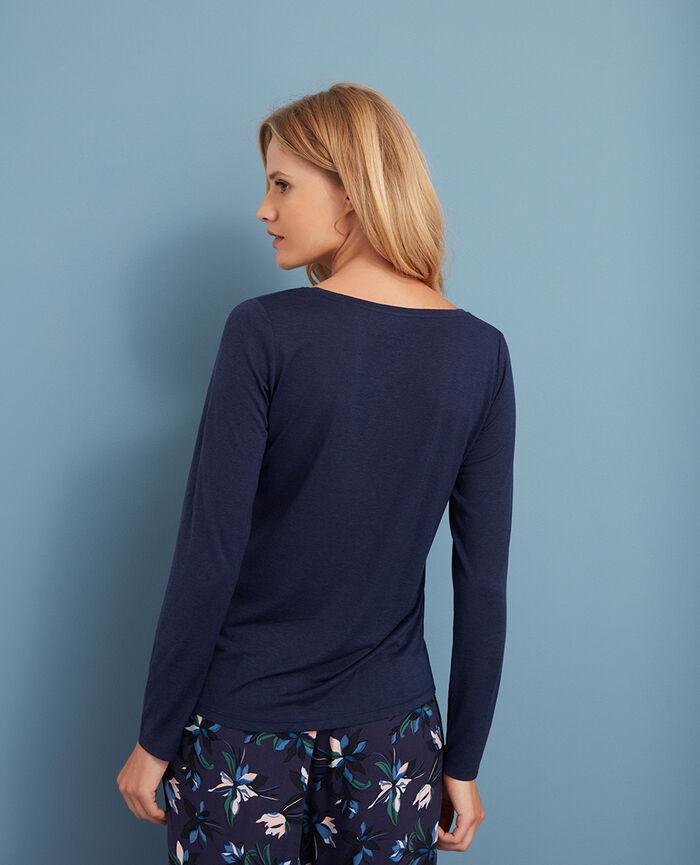 T-shirt manches longues Bleu marine Latte