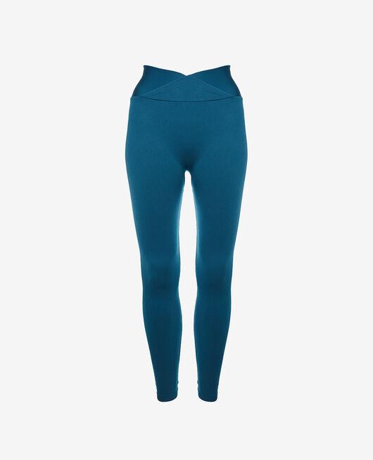 Legging de sport Bleu jazz Yoga