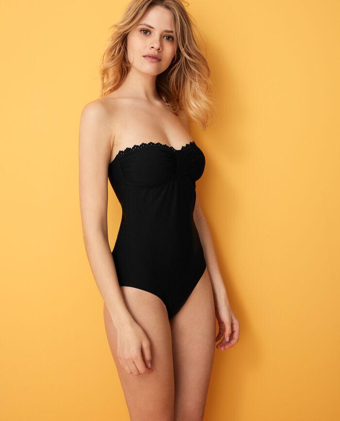 Bustier swimsuit Black Andrea