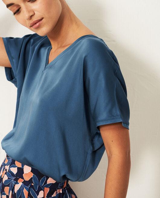 T-shirt manches courtes Bleu orage Attitude
