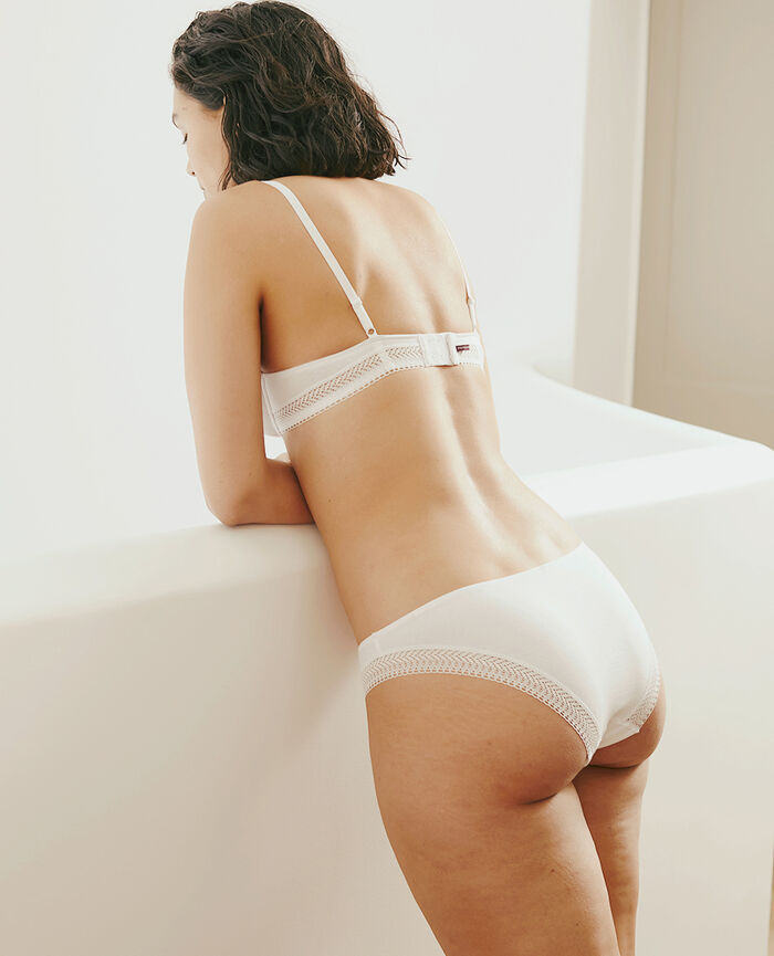 Underwired bra White Coton