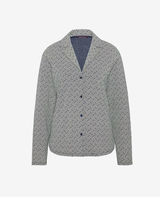 Pyjama jacket Navy blue susanna Dimanche print