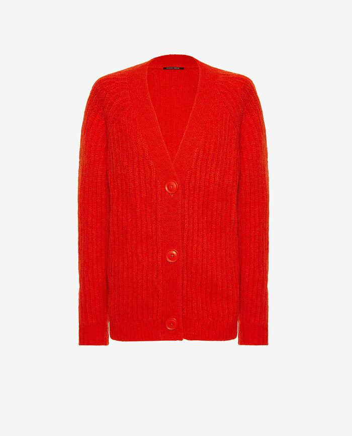 Cardigan manches longues Rouge flash Sensation