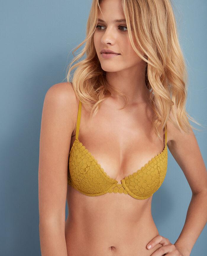 Half-cup padded bra Pickles yellow Monica