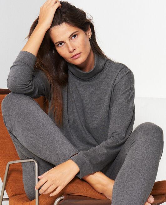 Carrot pants Flecked grey Heattech©  lounge