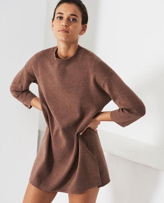 Long-sleeved tunic Nutmeg brown Naturel