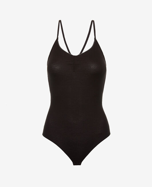 Sleeveless body Black Heattech® lovely