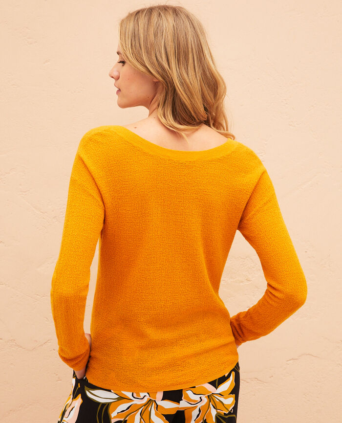 V-neck jumper Sahara yellow Majorelle
