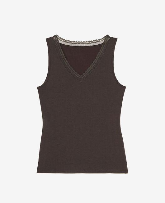 T-shirt sans manches Gris brume Extra heattech