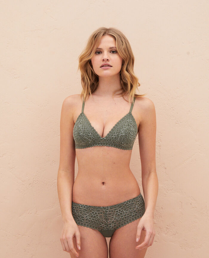 Triangle padde bra Casbah green Monica