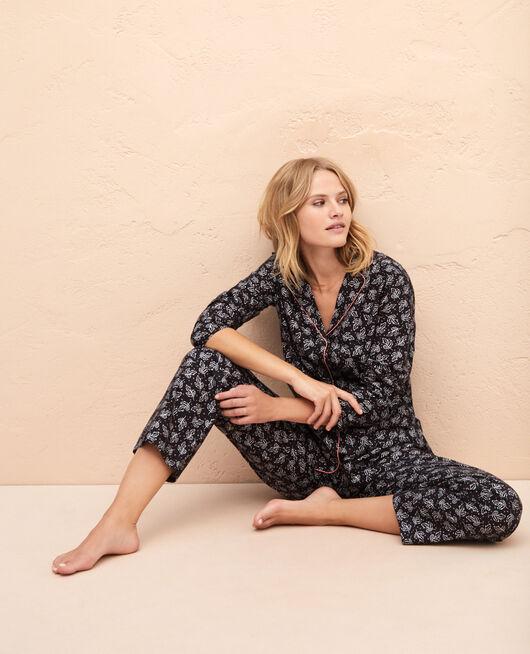 Pyjama set Gray leaves Princesse tam.tam x uniqlo