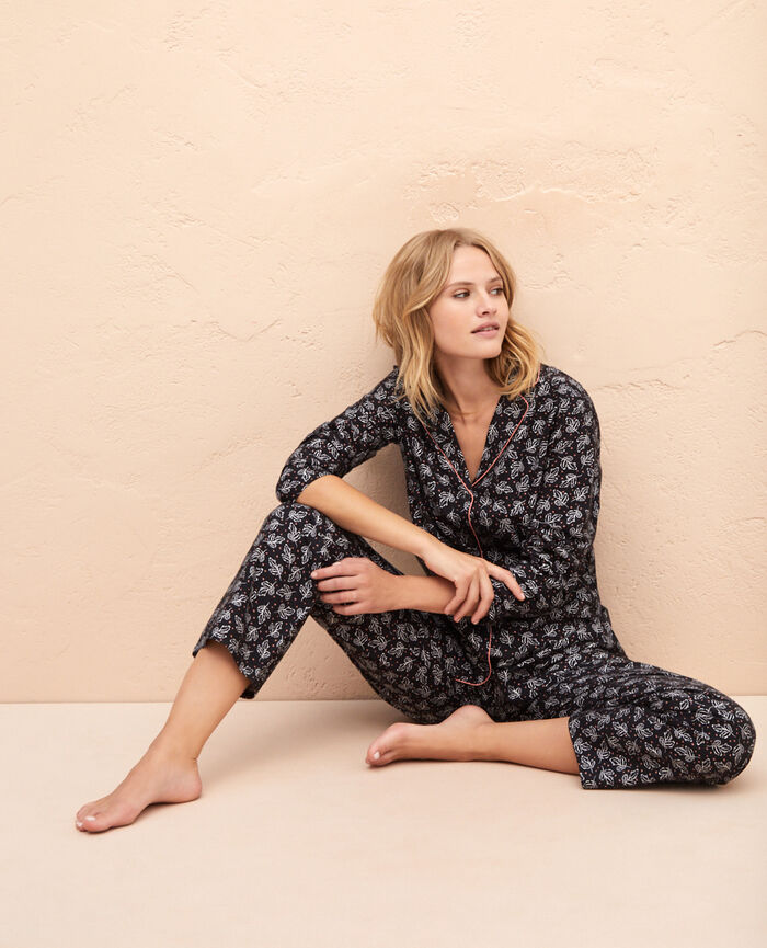 Set de pyjamas Feuilles gris Princesse tam.tam x uniqlo
