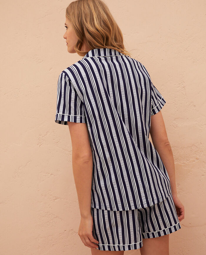 Pyjama set Stripe navy Princesse tam.tam x uniqlo