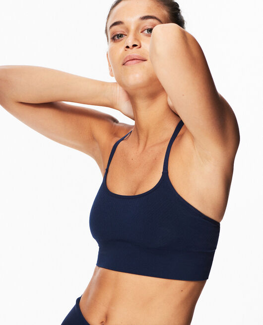 Sports bra light support Navy Yoga