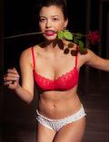Balcony bra Idol red Amour