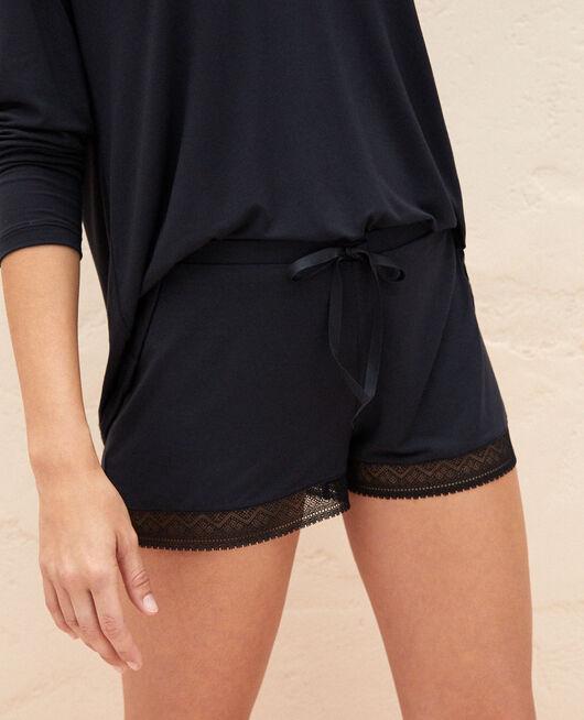 Short de pyjama Noir Douceur