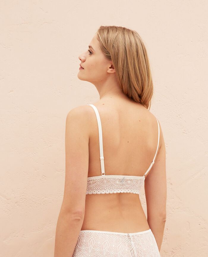 Soft cup bra Rose white Souk