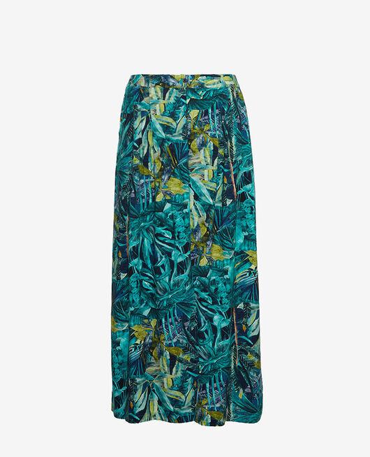 Gaucho pants Blue palm Fancy viscose