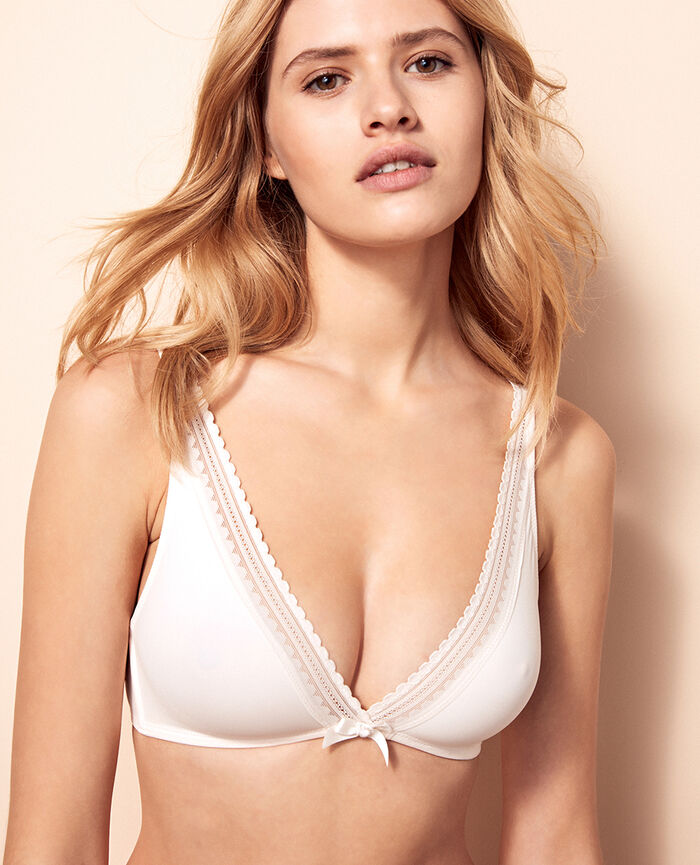 Soft cup bra Rose white Beaute