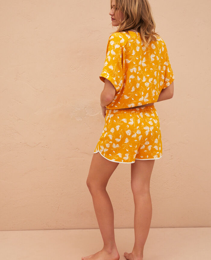 Short de pyjama Hammam jaune Bahia