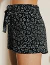 Pyjama shorts Black petal Echo
